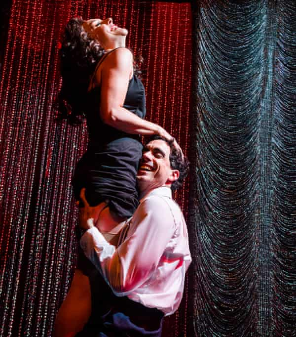 Not funny and not fun … Sherry Mendez (Hannah Glover) and Al Wheeler (Sebastien Torkia).