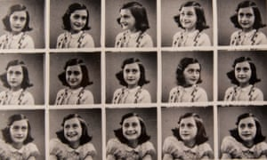 Photographs of Anne Frank taken in a department store booth.