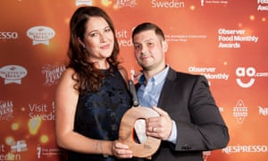 Mark Jarvis of the Farringdon based restaurant, Anglo, with the award for Best Newcomer