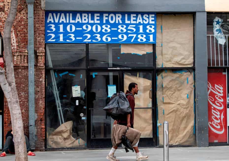 A closed business in Santa Monica, California.