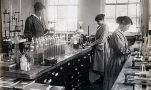 Women working in a munitions factory in Gretna, Scotland, 1918.