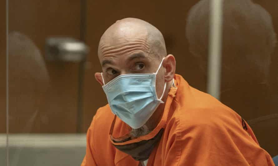 Michael Gargiulo in court in Los Angeles where he was serntenced to death for murdering Ashley Ellerin and Maria Bruno.