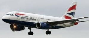 A British Airways aircraft.