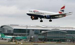 A British Airways aircraft at Dublin airport
