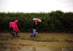 Raincoats and brollies