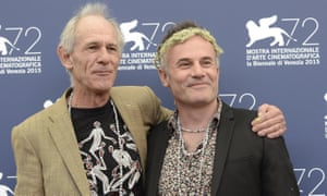 Directors Martin Butler and Bentley Dean pose during a photocall for their film Tanna at the 72nd annual Venice film festival.