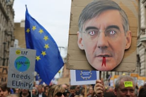 Jacob Rees-Mogg with forked tongue