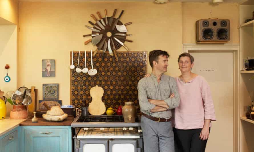 sam and sam clark in their kitchen