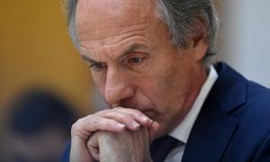 Chief Scientist Dr Alan Finkel during Senate Estimates at Parliament House on Thursday.