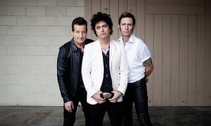 Green Day's Tré Cool, Billie Joe Armstrong, and Mike Dirnt.