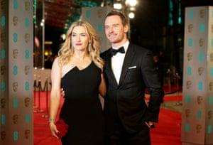 Kate Winslet and Michael Fassbender arriving