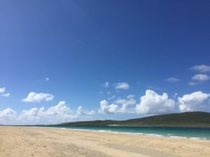 'Luskentyre beach on Harris: Idyllic, unspoilt and backed by a rugged landscape.'
