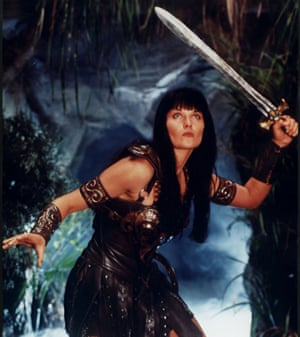 'The lesbian gaze often overlaps with the heterosexual male one' … Xena in action.
