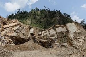 Stone quarry near Dhulikhel