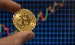 A bitcoin golden cryptocurrenc