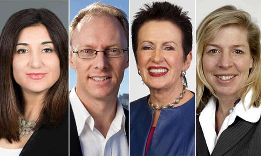 Lisa Annese, Diversity Council; David Ritter, Greenpeace; Clover Moore, City of Sydney; Blair Palese, 350.org