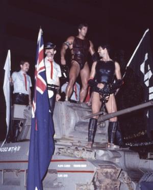 The Link float, Gay Mardi Gras, 1983.