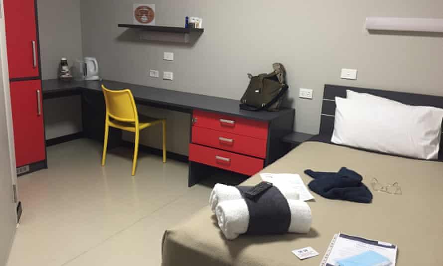 Manigurr-ma donga. Chip Mackinolty's room in the Howard Springs quarantine facility.