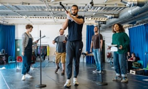 Rehearsal for There Is a Light That Never Goes Out … from left, Katie West, David Crellin, Reuben Johnson, Daniel Millar and Nisa Cole.