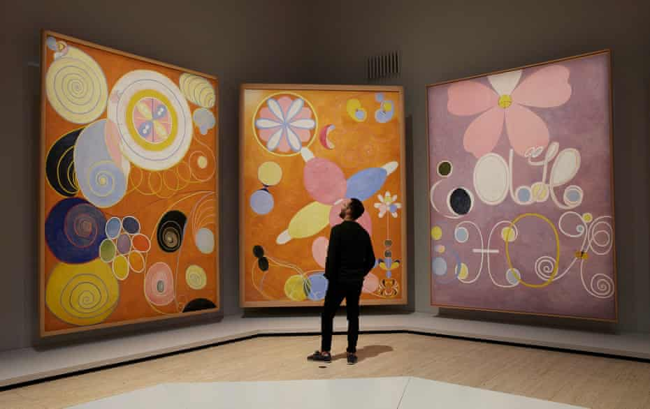 Installation view of Hilma af Klint: The Secret Paintings, at the Art Gallery of NSW