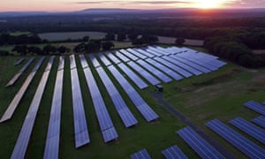 Renewable energy such as solar has to be at the centre of a recovery say campaigners.