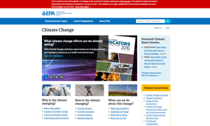 The placeholder snapshot of the EPA's climate change webpage pre-Trump administration.