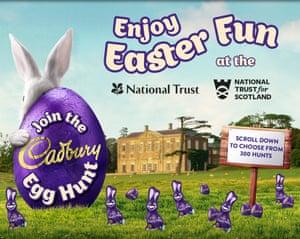 Cadbury egg hunt