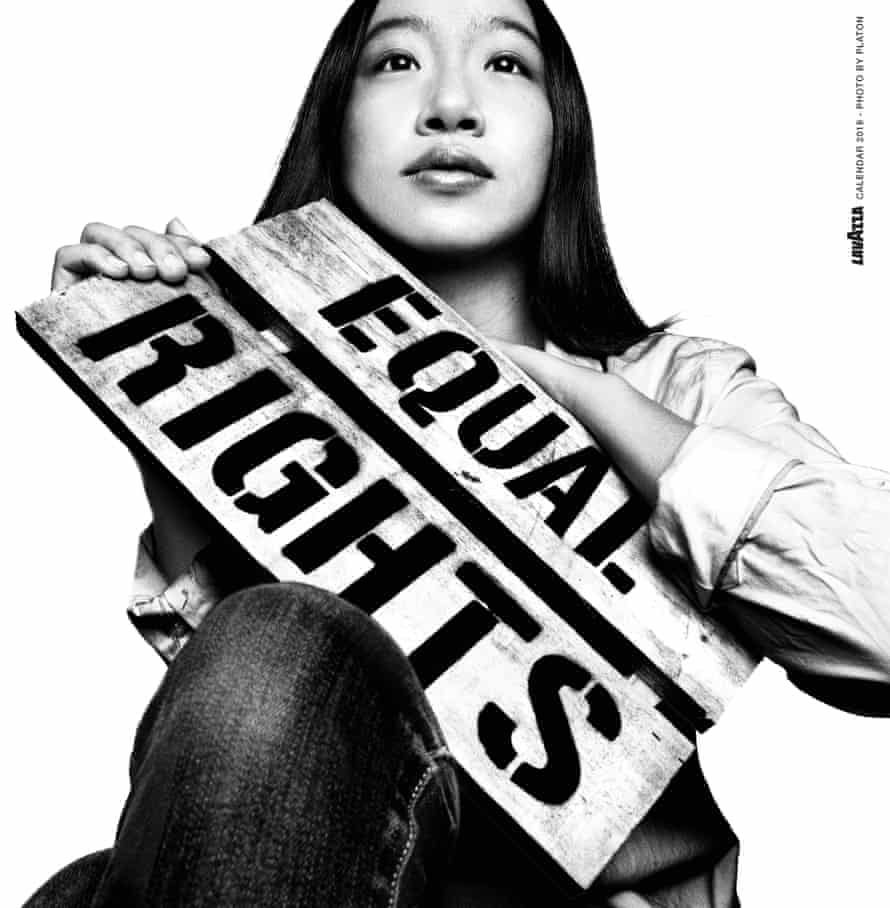 Sweet and strong: campaigner Bonnie Chiu in the Lavazza calendar.