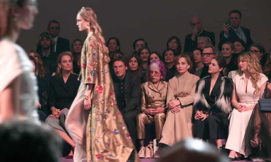 Front row … Judy Chicago among the guests at Dior's Paris show.