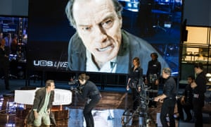 Bryan Cranston plays a TV anchorman who becomes a crazed celebrity guru in a stage production of Network.