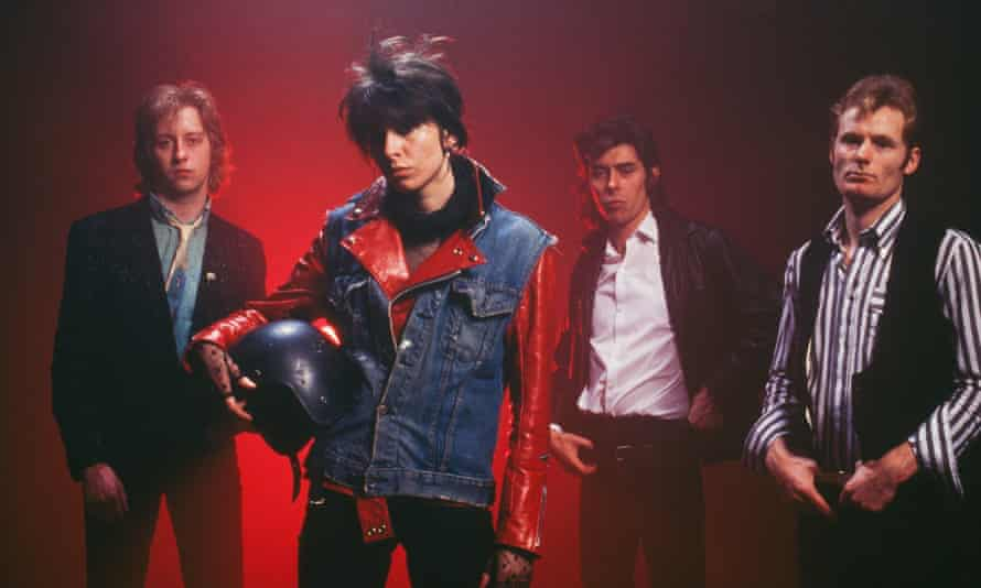 Chrissie Hynde with the original line-up of the Pretenders in 1979, James Honeyman Scott, Pete Farndon and Martin Chambers.