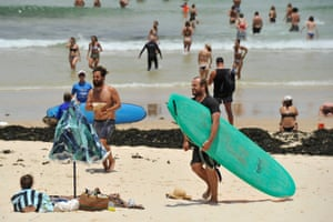 Bondi Beach in Sydney on Tuesday ahead of the hottest December night since records began