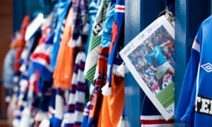 Floral tributes at Ibrox Stadium, Glasgow, for former Rangers player Fernando Ricksen who died aged 43 after living with motor neurone disease for six years.