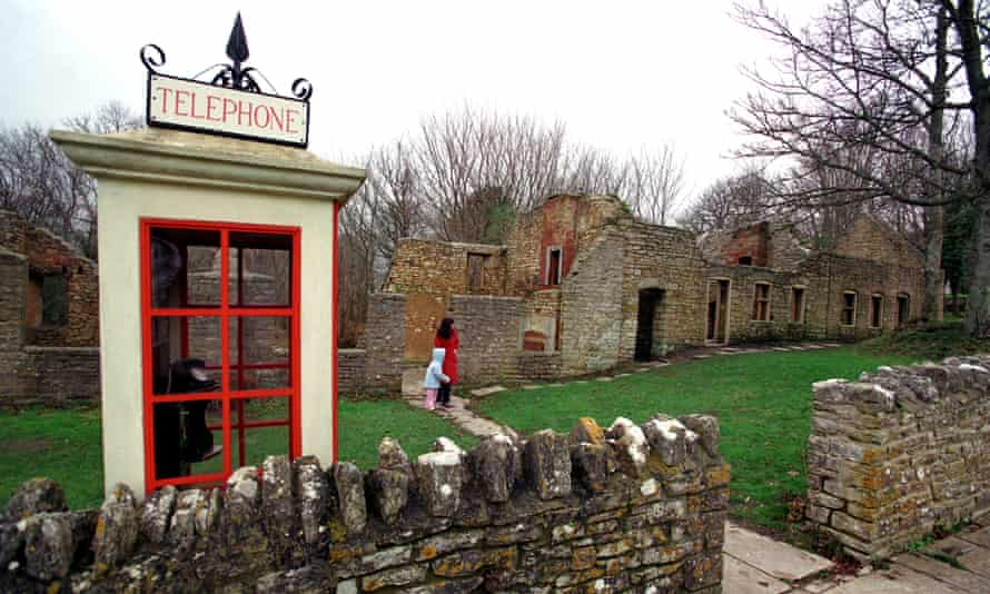 The 'ghost' village of Tyneham, with period phone box