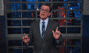"Stephen Colbert: ""No one is exempt,"" from the House Ways and Means Committee chair's demand for tax returns from the IRS. ""Mr. President, he's going to grab you by the 1040s. And when you're a chairman, they let you do it."""