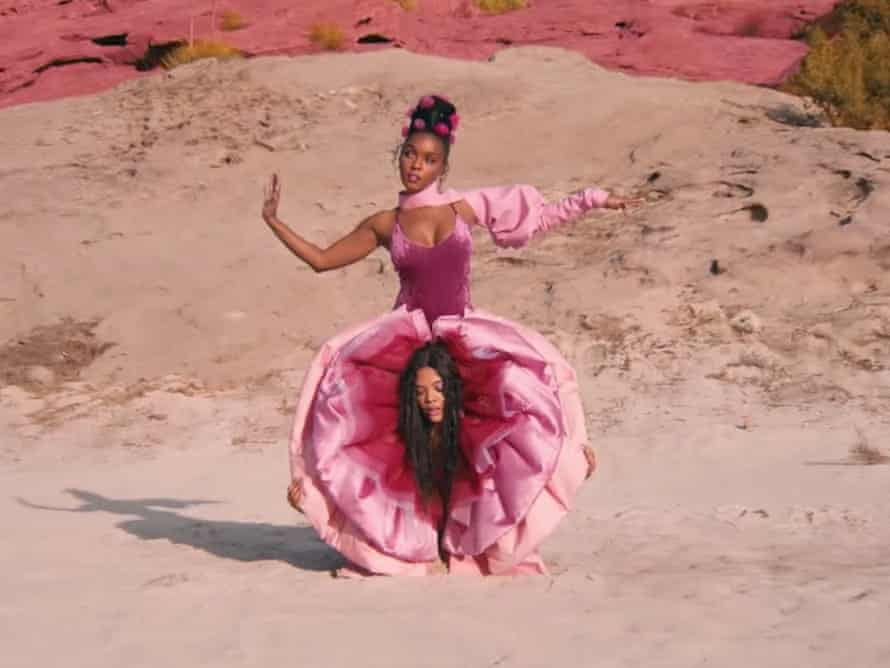 Vagina trousers in Janelle Monáe's 2018 video for her song PYNK.