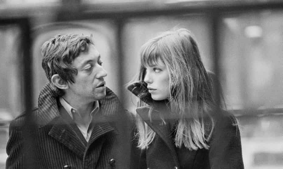 Jane Birking with Serge Gainsbourg in Paris, 1969