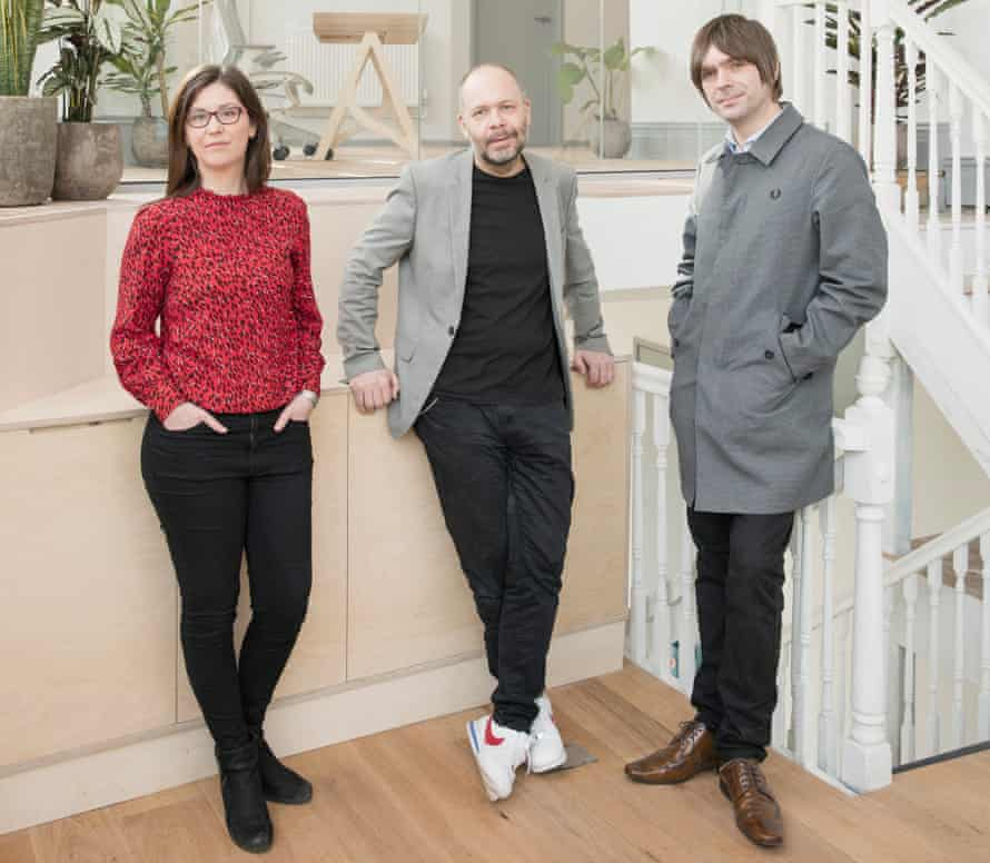 From left: Dr Laurie Higbed, Dr Ben Sessa and Steve O'Brien at Awakn in Bristol, the UK's first on-­the-high-street provider of psychedelic-assisted psychotherapy, March 2021