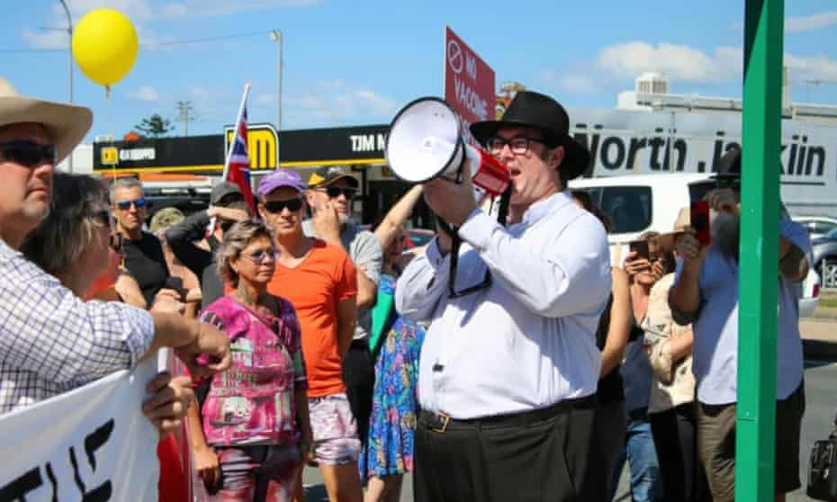 Nationals MP George Christensen attending anti-lockdown rally in Mackay, Queensland on 24 July 2021