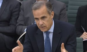 Governor of the Bank of England, Mark Carney, testifying to the Treasury committee today.