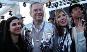 Eric Schmidt, executive chairman of Google's parent company Alphabet at Further Future. Schmidt describes festival goers at the cream of the Burning Man crop.