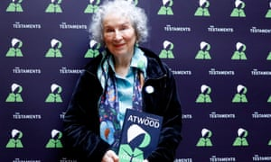 Margaret Atwood with her new novel.