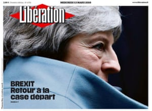 The front page of France's Libération
