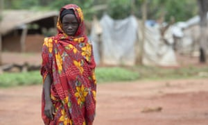 A Sudanese woman in a refugee camp in Bambari, Central African Republic.