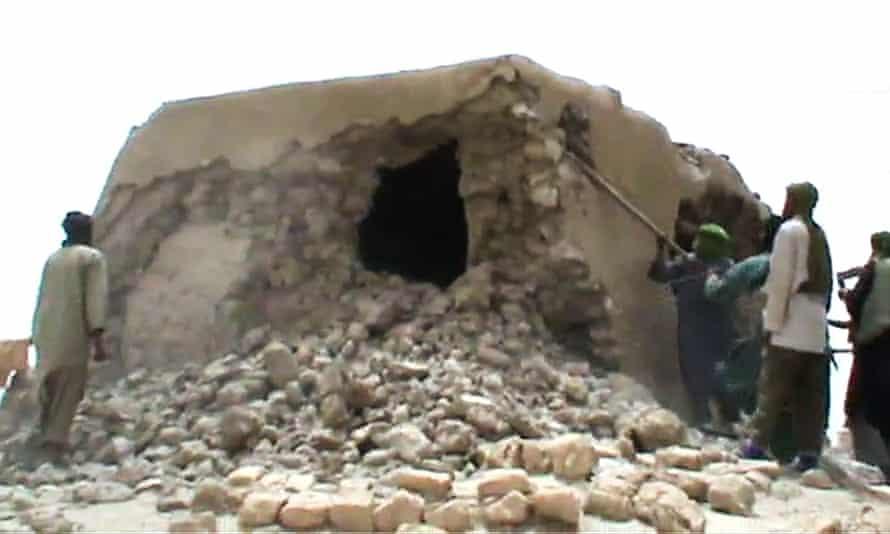 Malian jihadists attack the Unesco world heritage site in Timbuktu in 2012.