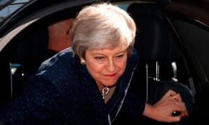 Theresa May arrives in Brussels on 21 March.