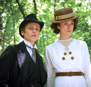 Denise Gough and Keira Knightley in Colette.