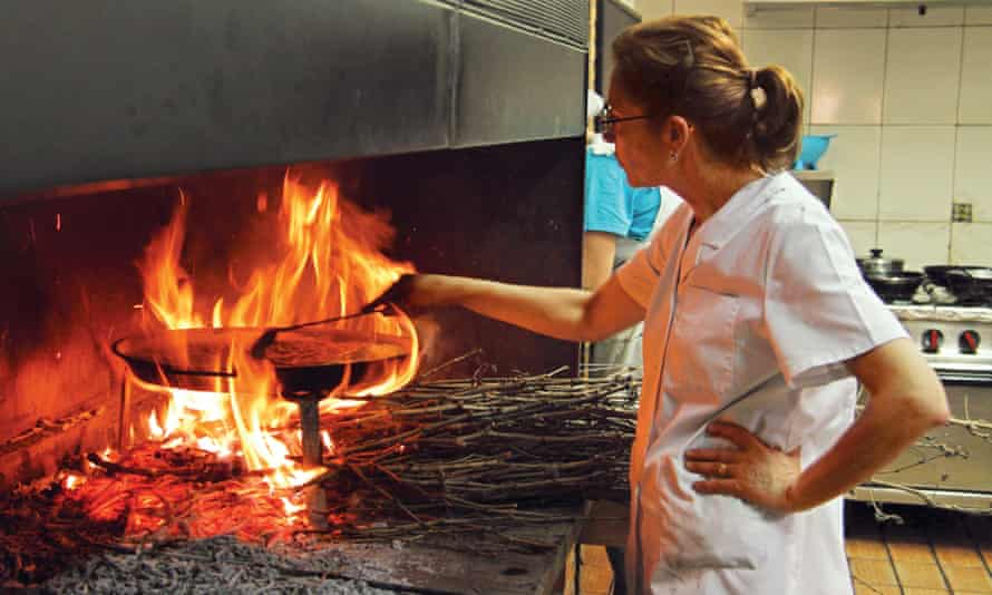 Cooked the traditional way – over a wood fire.