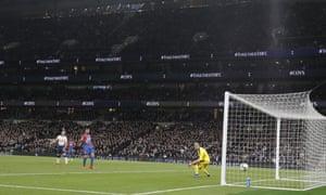 Heung-Min Son of Tottenham Hotspur scores his team's first goal.