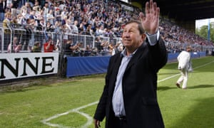 Auxerre's coach Guy Roux lasted just the 44 years as manager.